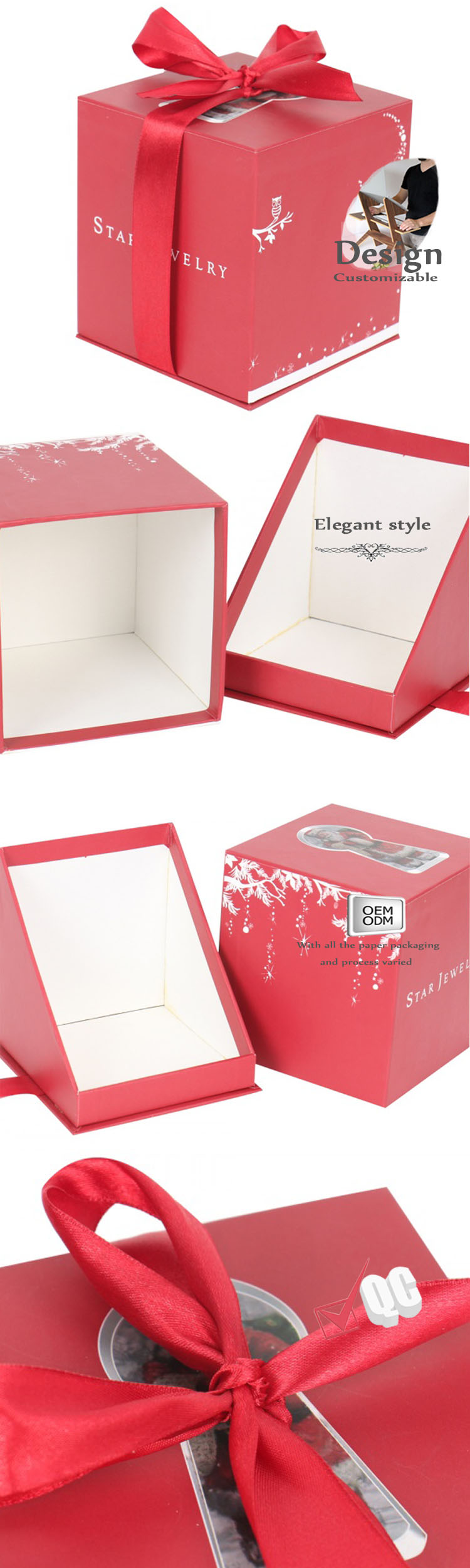 Christmas gift boxes with row